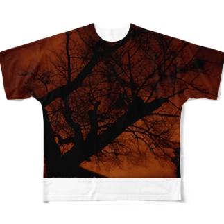 赤焼け Full graphic T-shirts