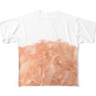 かつおぶし Full graphic T-shirts