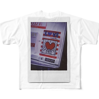 love & peace Full graphic T-shirts