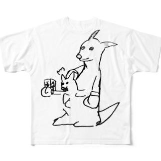 オオサカさんのカンガルー Full graphic T-shirts
