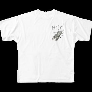 Hoshino Asato.の助けてちょ Full graphic T-shirts