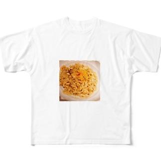早稲田の油そば Full graphic T-shirts