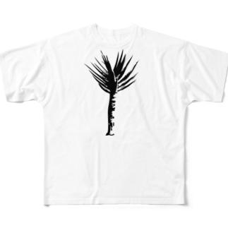 アロエ ディコトマ シンプルモノトーングラフィック Full graphic T-shirts