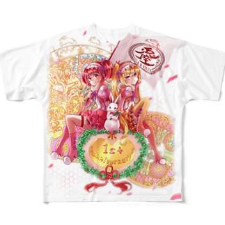 うさ食&ラスク擬人化娘 一周年記念ver Full graphic T-shirts