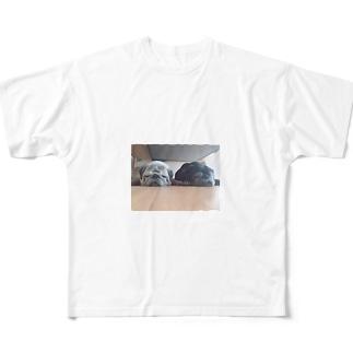 ねむたいぜ♡ Full graphic T-shirts