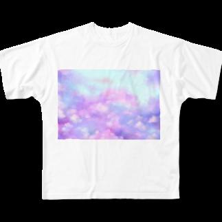謎世界観ののすたるじっく Full graphic T-shirts