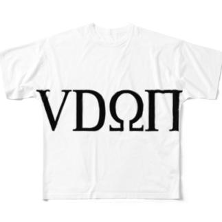 隠語うどん Full graphic T-shirts