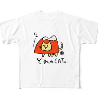 とれのCAT Full graphic T-shirts