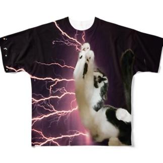 イナズマンチカン Full graphic T-shirts