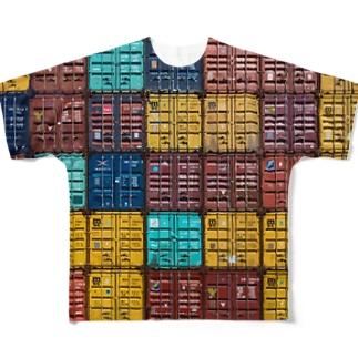 コンテナTEE_01 Full graphic T-shirts