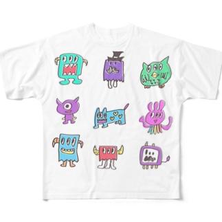 イケイケモンスターズ Full graphic T-shirts