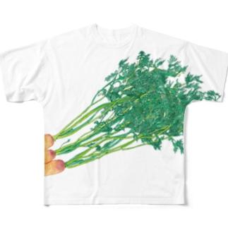 葉付きにんじん Full graphic T-shirts