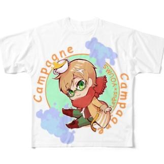 パン・ド・カンパーニュ ちびキャラver  Full graphic T-shirts