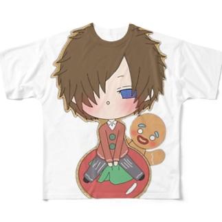 クッキーマン Full graphic T-shirts