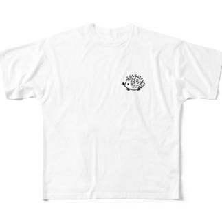 ハリネズミのはりまる。 Full graphic T-shirts