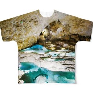 沖永良部島(銀水洞・洞窟) Full graphic T-shirts