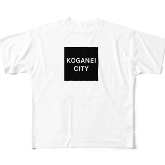 KOGANEI CITY BOX LOGO Full graphic T-shirts
