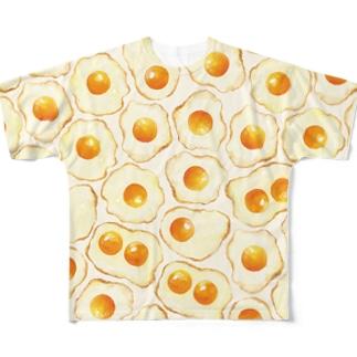 目玉焼きTシャツ Full graphic T-shirts
