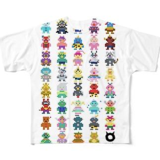 ドット絵MAMES Full graphic T-shirts