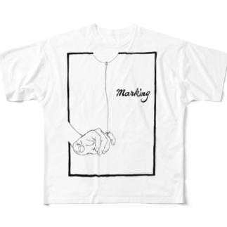 Marking -風船- Full graphic T-shirts