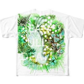 翠白色の烏死骸 Full graphic T-shirts