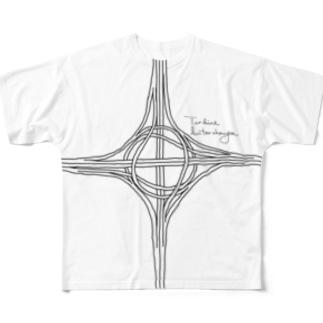 タービン型インターチェンジ Full graphic T-shirts