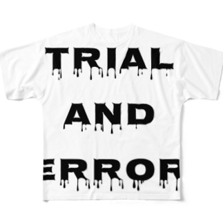 Trial and error Big logo Full graphic T-shirts