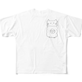 ハート型のクッキーがすきです Full graphic T-shirts