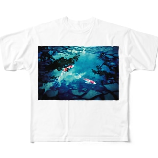 鯉 和風 Full graphic T-shirts
