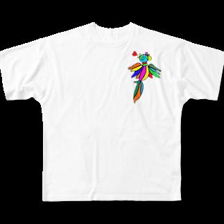 Matt blackは人生改革企み中の世界を跨ぐ鳥 Full graphic T-shirts