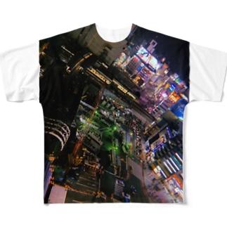 beautiful city SHIBUYA Full graphic T-shirts