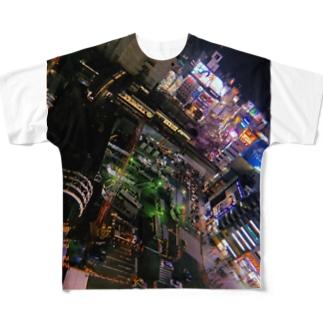 ブラックナイトシティ SHIBUYA Full graphic T-shirts