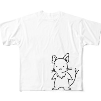 ゆるデグー Full graphic T-shirts