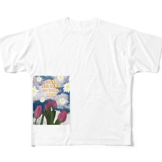 人生に彩りを Full graphic T-shirts