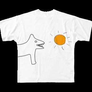 SUNDOGのサンドッグちゃん Full graphic T-shirts