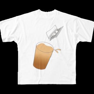 SUNDOGのサーっとドリンクに薬を入れます Full graphic T-shirts