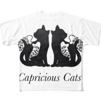 Capricious Cats Full graphic T-shirts