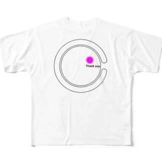※全額寄付※Thank you from C Full graphic T-shirts