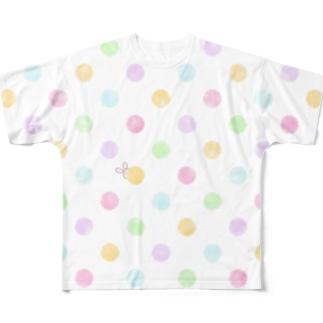 水玉かくれんぼ Full graphic T-shirts