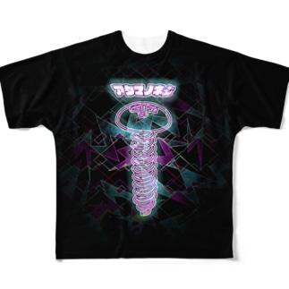 アタマノネジ Full graphic T-shirts