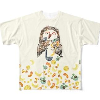 今日はシチューの日(フクロウB)其の二 Full graphic T-shirts
