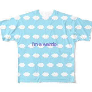 ふわふわな人 Full graphic T-shirts