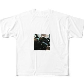 マセラティ白 Full graphic T-shirts