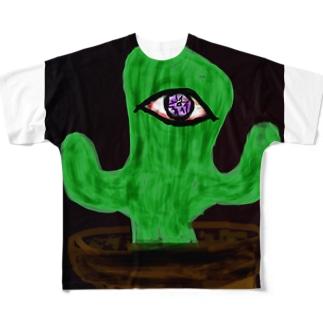 ガンギマリさぼてん Full graphic T-shirts