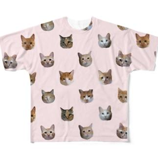 ポルカドット?ペールピンク Full graphic T-shirts