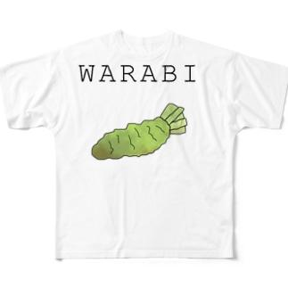 蕨スキスキグッズその2 Full graphic T-shirts