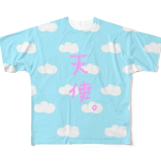 天使(雲)TEE Full graphic T-shirts