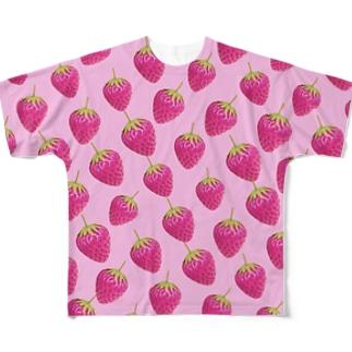 苺づくし🍓 Full graphic T-shirts