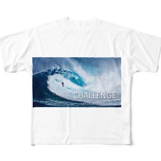 ビッグウエイブ Full graphic T-shirts