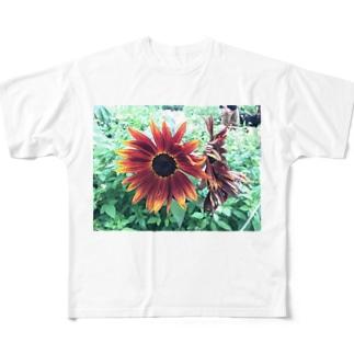 黒ひまわり Full graphic T-shirts